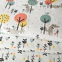 Textil - vĺčkovia, 100 % bavlna Francúzsko, šírka 150 cm - 10529212_