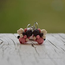 Náušnice - Pink elegance - malé náušnice - 10531696_