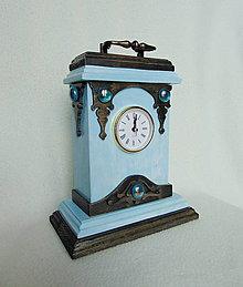 Hodiny - Drevené hodiny S dávnym šarmom - 10531238_