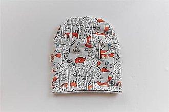 "Detské čiapky - Dvojvrstvová čiapka ""schovávačka"" - 10530218_"