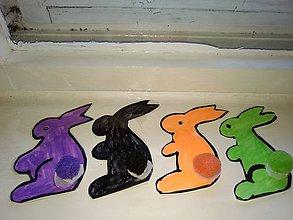 Hračky - Zajačikovia- priraďovanie farieb - 10530520_