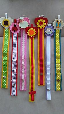 Detské doplnky - Sponkovník (Červenooranžový s usmiatou kvetinkou (piaty v poradí)) - 10531427_