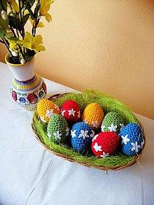 Dekorácie - Pestré veľkonočné vajíčka - 10532394_