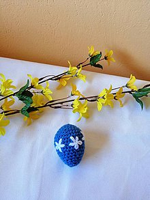 Dekorácie - Pestré veľkonočné vajíčka (Modrá) - 10532481_