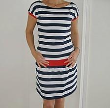 Šaty - Námořnické šaty...vel.S - XXL...proužek 2,5 cm... - 10529975_