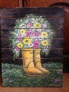 Obrazy - Zátišie na doske maľované - 10530158_