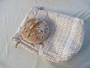 Úžitkový textil - 100% ľanové podšité vrecúško na chlieb a pečivo - VLASTNÝ VZOR - 10532458_