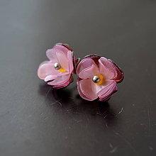 Náušnice - Recy náušnice napichovacie kvety - 10531367_