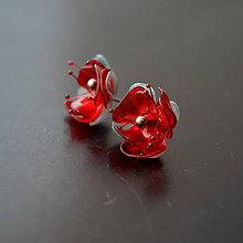 Náušnice - Recy náušnice napichovacie kvety - 10531389_