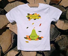 Detské oblečenie - Detské tričko - hruška - 10529904_