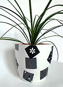 Nádoby - Kvetináč VELUS SR. - ručne maľovaný - 10530248_