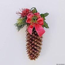 Dekorácie - Dekoračná vianočná šiška (Červená) - 10531322_