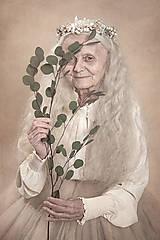 Ozdoby do vlasov - Kvetinový polvenček s perličkami