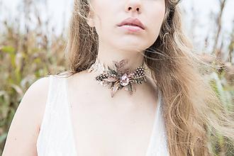 """Náhrdelníky - Choker náhrdelník """"ako vánok"""" - 10532159_"""