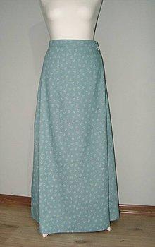 Sukne - dlhá kotvičková sukňa-denim - 10530103_