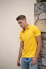 Oblečenie - Pánske pólo tričko žlté - 10531813_
