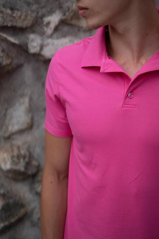 0ed34b6a4d16 Pánske pólo tričko cyklaménovo ružové   PLZR - SAShE.sk - Handmade ...