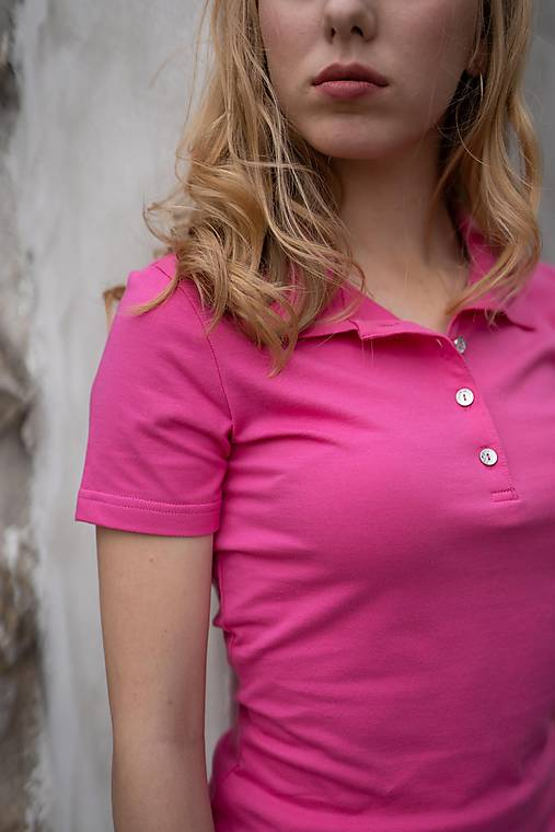 e8655ce2f4f1 Dámske pólo tričko cyklaménovo ružové   PLZR - SAShE.sk - Handmade ...