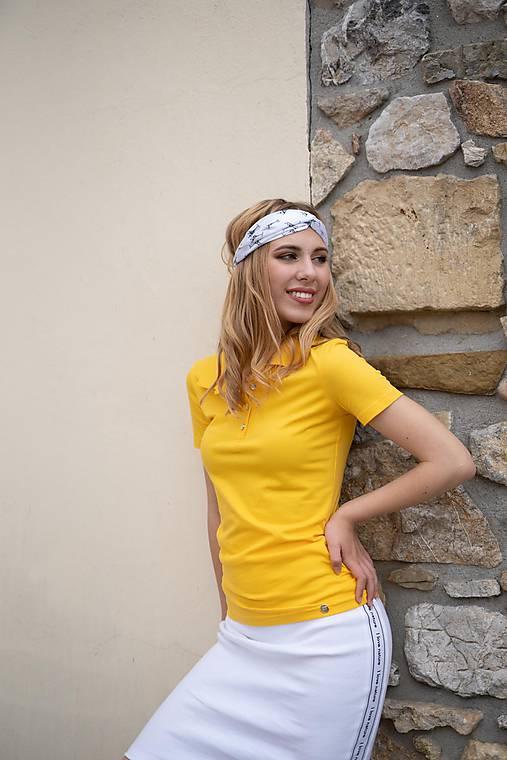 cb25cfbe3e8e Dámske pólo tričko žlté   PLZR - SAShE.sk - Handmade Tričká