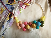 Detské doplnky - Silikónová dojčenský náhrdelník