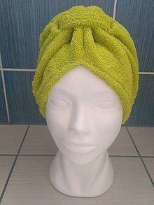 Čiapky - Kozmetický turban na vlasy - zelený - 10531002_