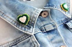 Odznaky/Brošne - Brošničky (MINI PINY) na golierik - srdiečka - 10530417_