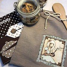 Úžitkový textil - Ľanové vrecko na potraviny - OLÍVIA III - 10532253_