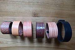 Opasky - Kožené náramky - 10530573_