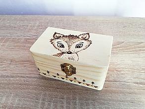 Krabičky - Box z prírodného dreva - Lišiak - 10529945_