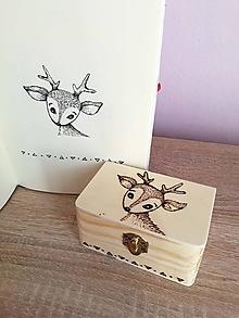Krabičky - Box z prírodného dreva - Srnček - 10529976_