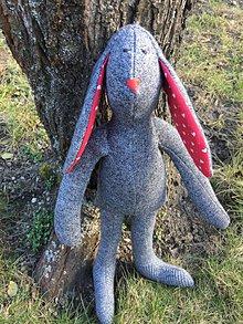 Hračky - Zajkuľka sivo-červena - 10531083_