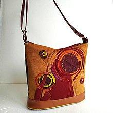 """Veľké tašky - Kabelka """"Červené so škoricou"""" - 10530382_"""