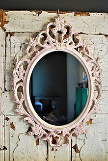 Zrkadlá - Barokové zrkadlo (Ružová) - 10530395_