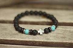 Šperky - Pánsky náramok láva, tyrkenit, hematit - 10529715_