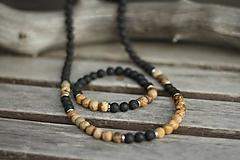 Šperky - Pánsky náhrdelník z minerálov láva, jaspis - 10532213_