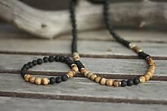 Šperky - Pánsky náramok láva, jaspis - 10532231_