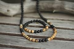 Šperky - Pánsky náramok láva, jaspis - 10532233_