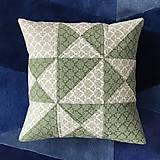 Úžitkový textil - Obliečka patchwork - hviezda (cca 40x40) - 10530869_