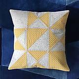 Úžitkový textil - Obliečka patchwork - hviezda (cca 40x40) - 10530896_