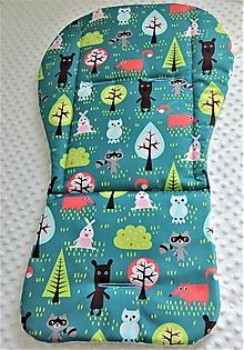 Textil - Podložka do kočíka z nepremokavej kočíkoviny - 10533541_