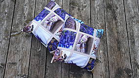 Úžitkový textil - Obliečky s levandulovým motívom (40*40 cm) - 10535156_