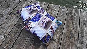 Úžitkový textil - Obliečky s levandulovým motívom (40*40 cm) - 10535157_