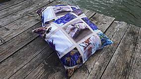 Úžitkový textil - Obliečky s levandulovým motívom (40*40 cm) - 10535158_
