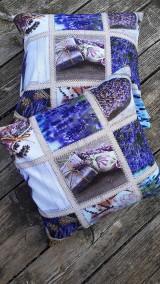 Úžitkový textil - Obliečky s levandulovým motívom (40*40 cm) - 10535160_