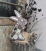 Dekorácie - závesná dekorácia:  Zajačik - 10535671_