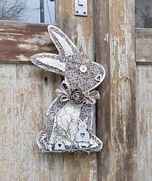 Dekorácie - závesná dekorácia:  Zajačik - 10535660_