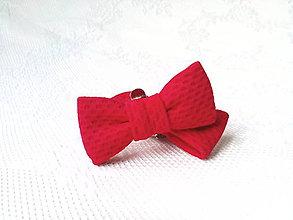 Obuv - Mini Pin Up klipy na topánky (červené) - 10536043_