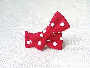 Obuv - Mini Pin Up klipy na topánky Karkulka (červené/biele bodky) - 10536098_