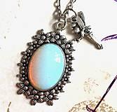 Náhrdelníky - Elegant Opalite & Fairy Necklace / Náhrdelník 2 v 1 opalit a víla #2046 - 10534095_