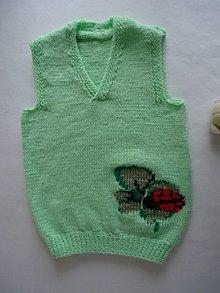 Detské oblečenie - Vestička - lienka na štvorlístku - 10533735_